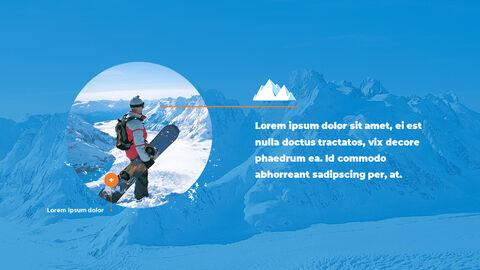 스노우 보드 & 스키 PPT 테마 슬라이드_22