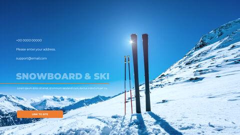 스노우 보드 & 스키 PPT 테마 슬라이드_40