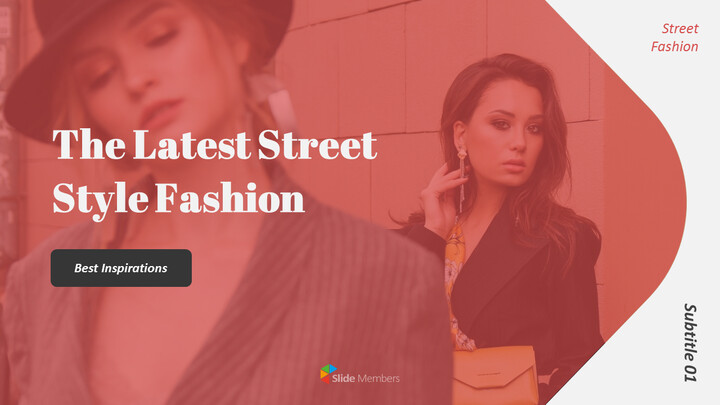 The Latest Street Style Fashion Simple PowerPoint Template Design_01
