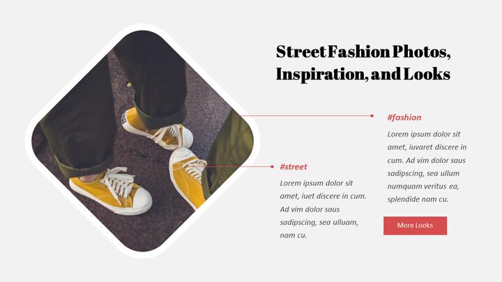최신 스트리트 스타일 패션 심플한 파워포인트 템플릿 디자인_02