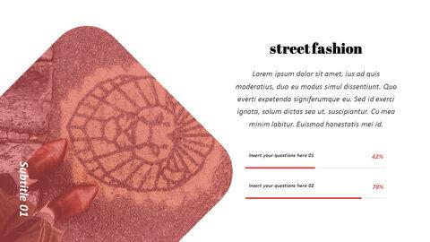 최신 스트리트 스타일 패션 심플한 파워포인트 템플릿 디자인_09