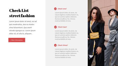 최신 스트리트 스타일 패션 심플한 파워포인트 템플릿 디자인_10