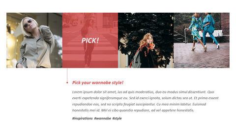 최신 스트리트 스타일 패션 심플한 파워포인트 템플릿 디자인_12