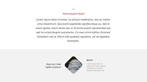 최신 스트리트 스타일 패션 심플한 파워포인트 템플릿 디자인_14