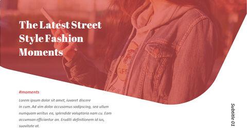 최신 스트리트 스타일 패션 심플한 파워포인트 템플릿 디자인_15