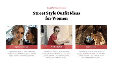최신 스트리트 스타일 패션 심플한 파워포인트 템플릿 디자인_21