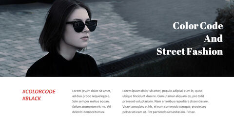 최신 스트리트 스타일 패션 심플한 파워포인트 템플릿 디자인_25
