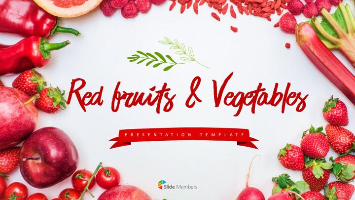레드 과일과 야채 테마 PPT 템플릿_01