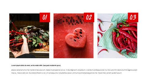레드 과일과 야채 테마 PPT 템플릿_07