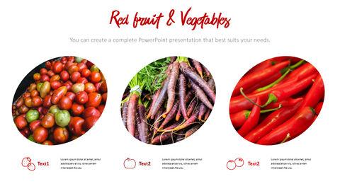 레드 과일과 야채 테마 PPT 템플릿_13