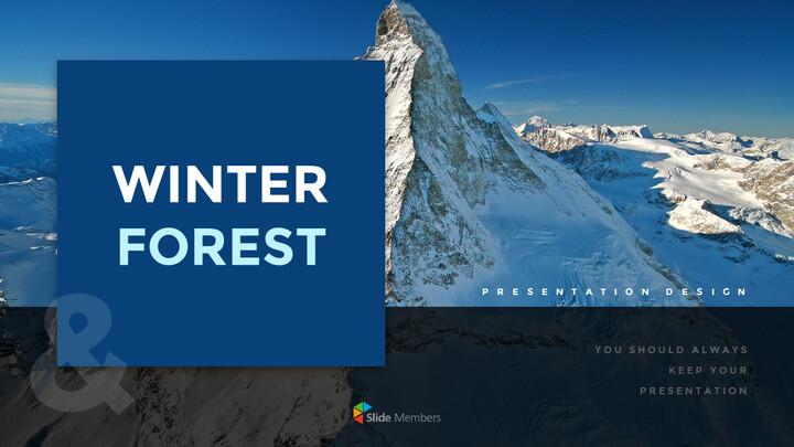 겨울 숲 간단한 디자인 템플릿_01