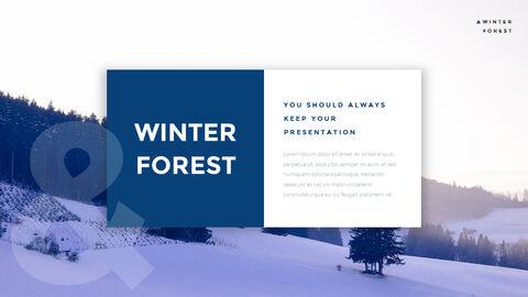 겨울 숲 간단한 디자인 템플릿_06