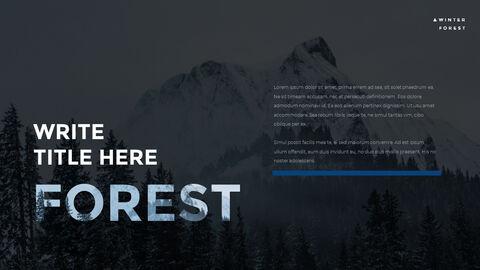 겨울 숲 간단한 디자인 템플릿_12
