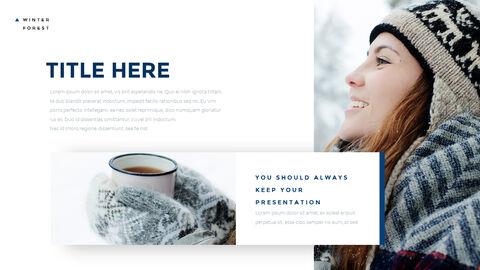 겨울 숲 간단한 디자인 템플릿_13