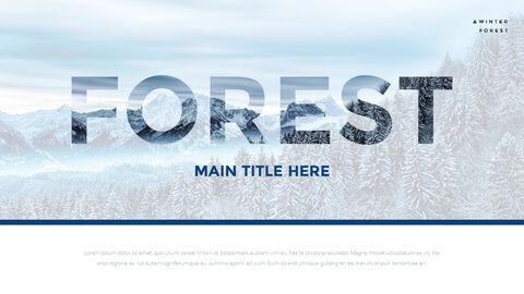 겨울 숲 간단한 디자인 템플릿_21