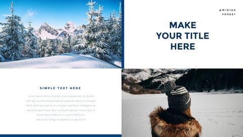 겨울 숲 간단한 디자인 템플릿_23