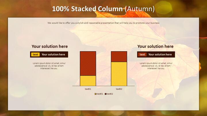 100% Stacked Column (Autumn)_01
