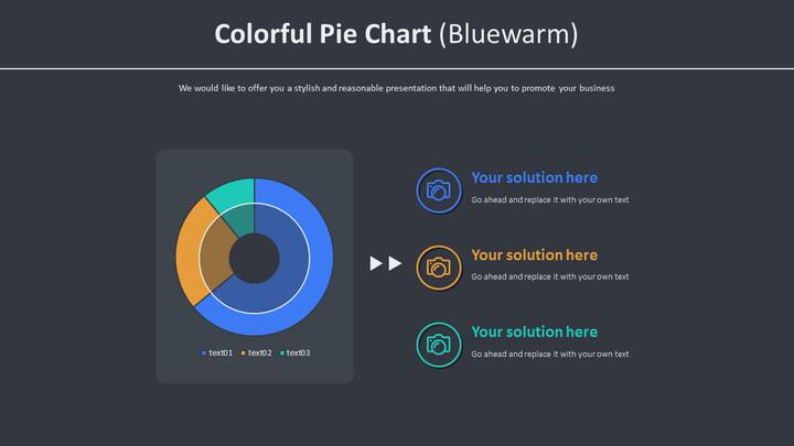 <span class=\'highlight\'>Colorful</span> Pie Chart (Bluewarm)_01