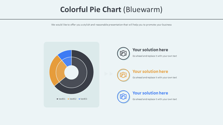 <span class=\'highlight\'>Colorful</span> Pie Chart (Bluewarm)_02