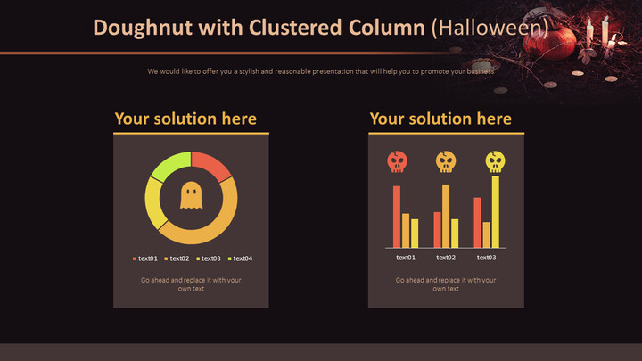 Doughnut with Clustered Column (Halloween)_01