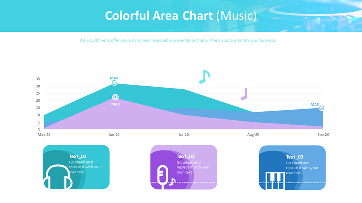 <span class=\'highlight\'>Colorful</span> Area Chart (Music)_01