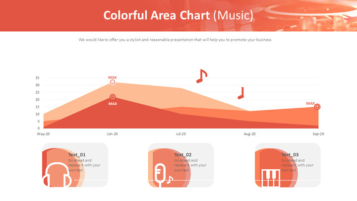 <span class=\'highlight\'>Colorful</span> Area Chart (Music)_02