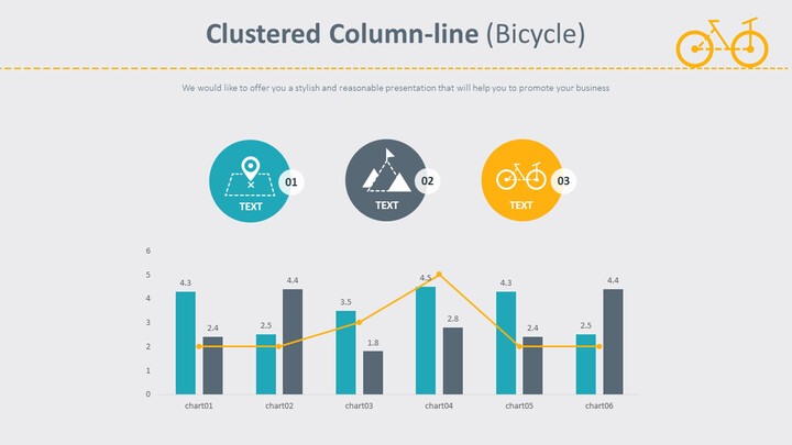 Clustered Column-line (Bicycle)_01