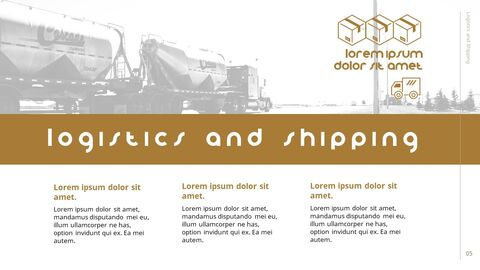 Logistics and Shipping Presentation PowerPoint_05