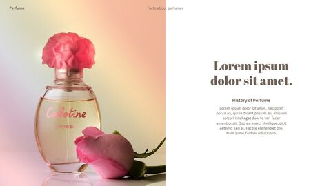 Perfume with Flower PowerPoint Templates_17