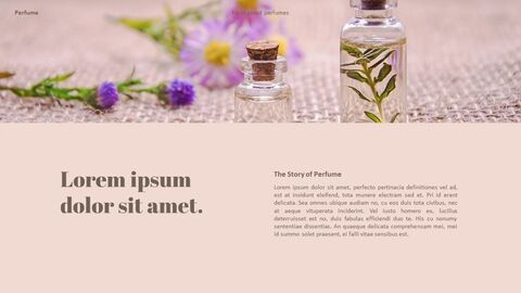 Perfume with Flower PowerPoint Templates_18