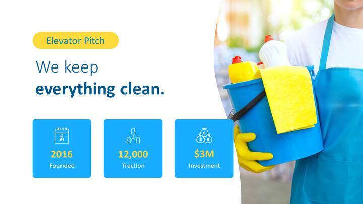 Modelli animati - Presentazione PPT del servizio di pulizia_02