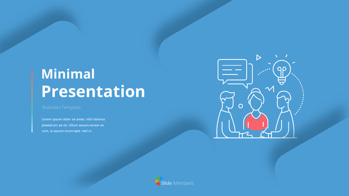 Animated Templates - Line Icon Minimal Presentation PowerPoint_01