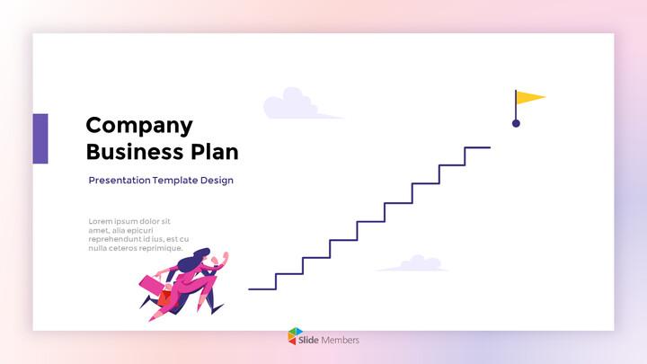 会社の事業計画レポートのアニメーションPowerPointテンプレート_01