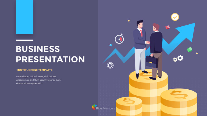 Financial Business Creative Report PPT Templates Animation Design_01