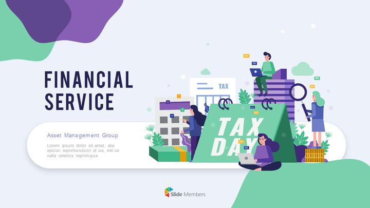 Presentación animada de negocios de diapositivas de diseño de grupo de servicios financieros_01