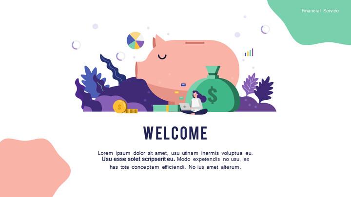 Presentación animada de negocios de diapositivas de diseño de grupo de servicios financieros_02