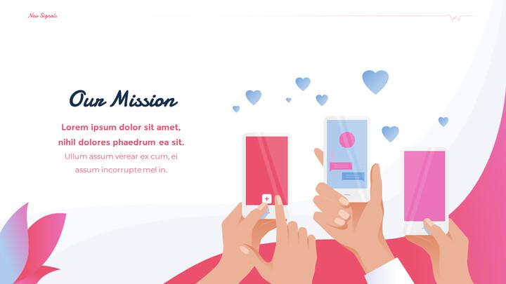 PowerPoint의 Love Match 응용 프로그램 테마 애니메이션 슬라이드_02