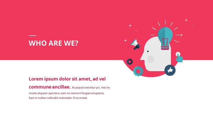 Modello animato di Startup Premium Flat Design_02