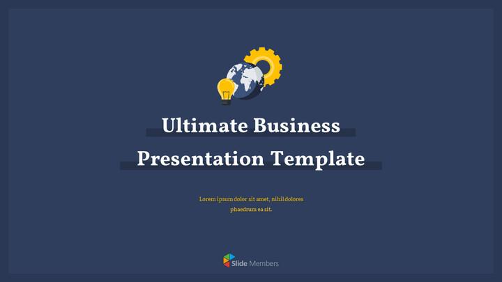 Diapositive animate del modello semplice di Ultimate Business in PowerPoint_01