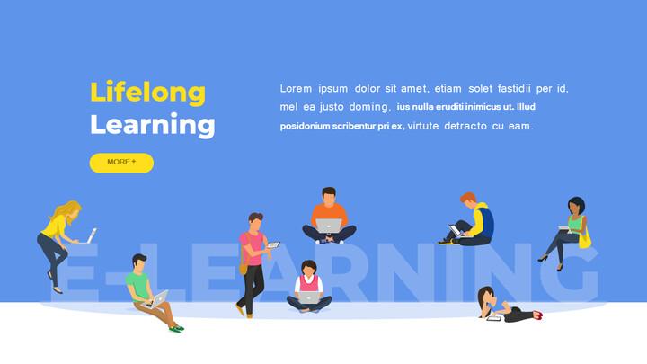 オンライン教育サービス最高のPowerPointプレゼンテーションアニメーションスライド_02