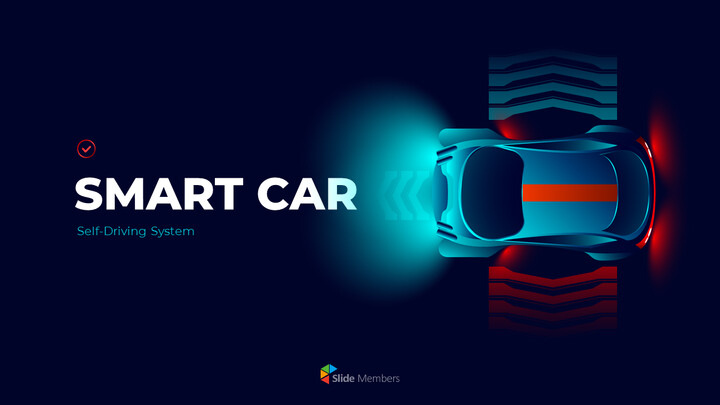 Presentazioni PowerPoint di Smart Car Pitch Deck Diapositive animate_01