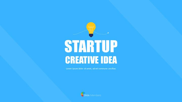 Esempi di presentazione di animazione aziendale di idea creativa di avvio_01