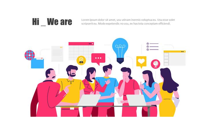 Esempi di presentazione di animazione aziendale di idea creativa di avvio_02