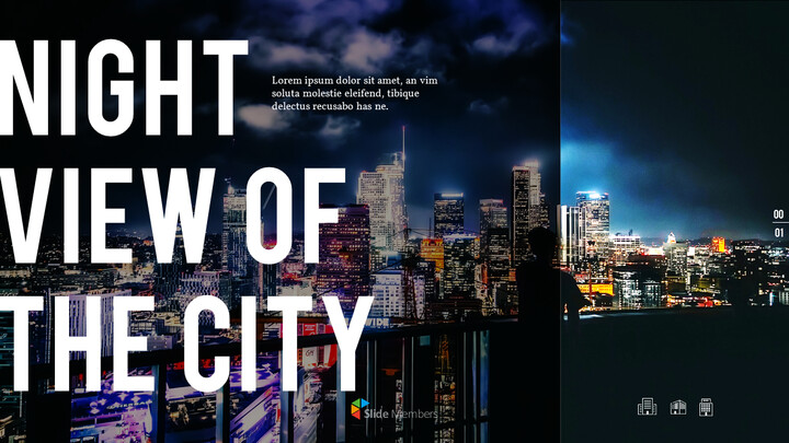 Night View of the City PowerPoint Layout_01
