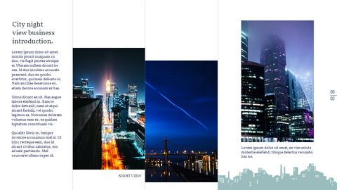 Night View of the City PowerPoint Layout_02
