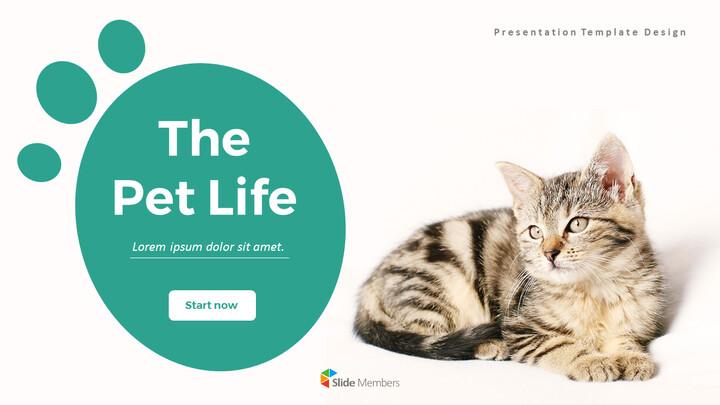 애완 동물 생활 심플한 파워포인트 템플릿 디자인_01