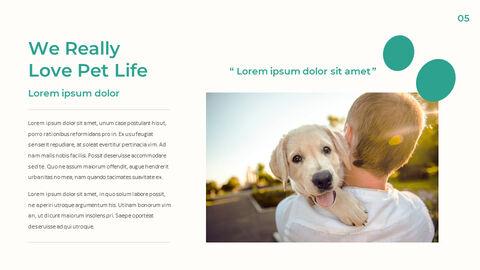 애완 동물 생활 심플한 파워포인트 템플릿 디자인_04