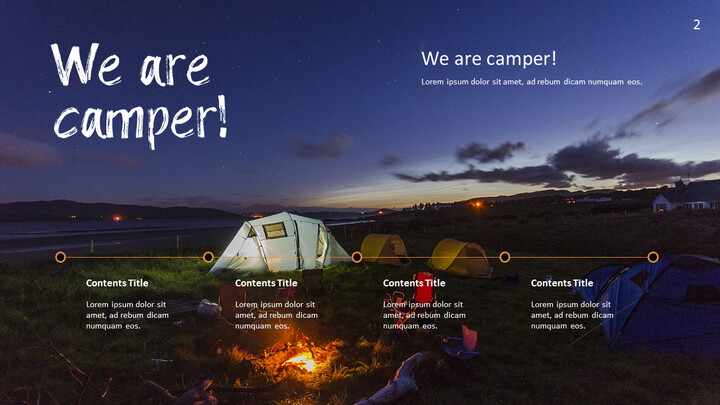 Camping PowerPoint Presentation Templates_02