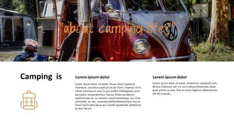 캠핑 PowerPoint 프레젠테이션 템플릿_14