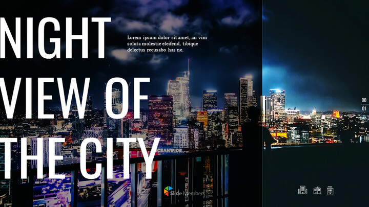 Night View of the City PowerPoint to Google Slides_01